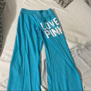Pink sweatpants:  Blue - M, Hot Pink - S